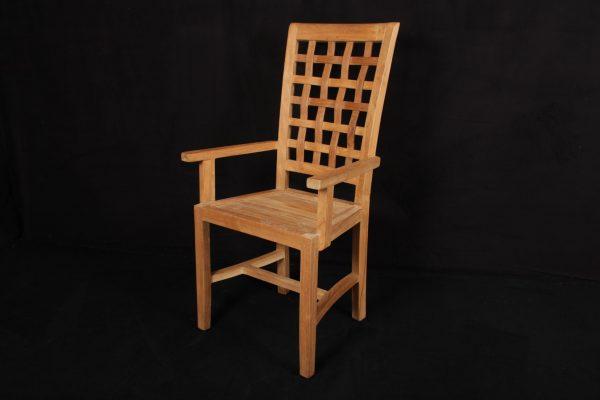 "Teakholz-Stuhl ""Seba"" mit Armlehne ohne Sitzpolster"