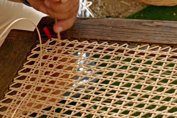 Anwendungsbeispiel Stuhlflechtrohr