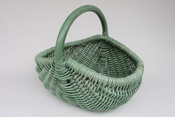 Handkorb, grün gewaschen