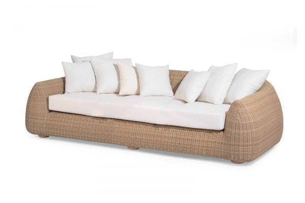 "Outdoor-Sofa ""Emma"", 3-Sitzer, honey"