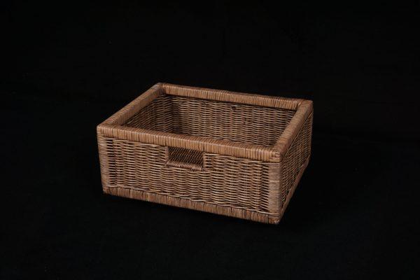 Regalkorb aus Peddig B40xT32xH17cm toast braun