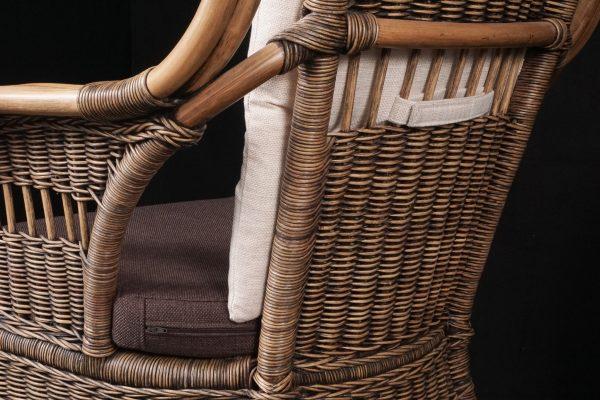 "Sesselpolster-Set ""Boston"" (Stoffkombi Jessy braun + Jessy beige) - Detailbild"