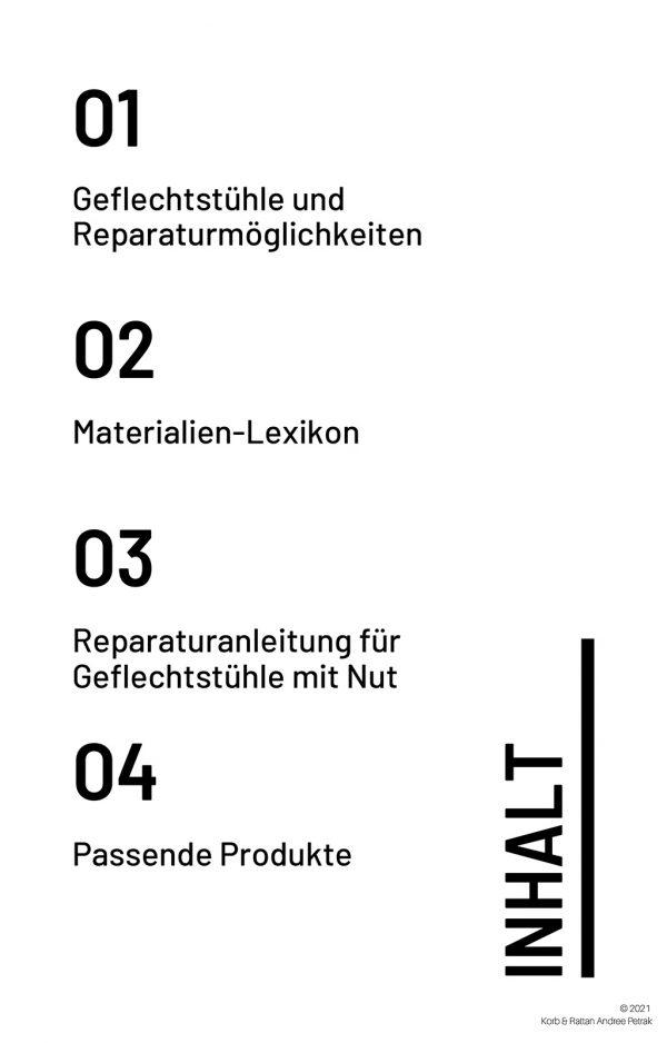 Stuhlgeflecht-Reparatur-Guide Inhalt