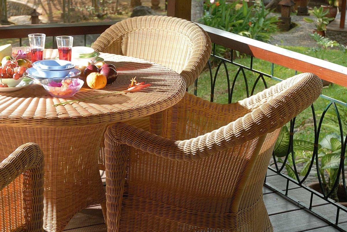 Geflecht hochwertiger Outdoor-Möbel