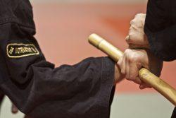 Kampfkunst mit Rattanstock